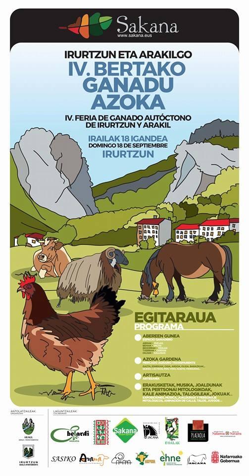 Español) 3ª Feria de ganado autóctono de Irutzun Arakil